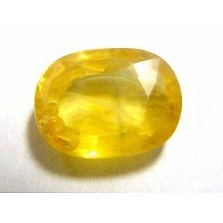 Om gyatri 8.25 ratti pukraj stone yellow sapphire stone , genuine yellow sapphire in Mumba