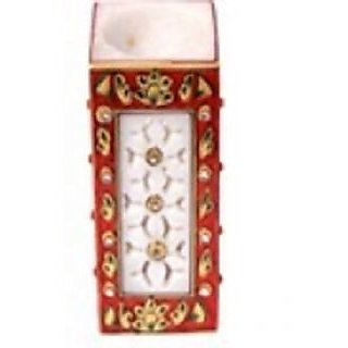 Charkhamart.com Marble pen Stand with meena kari and fine carving