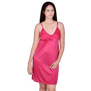 Kanika Women Satin Babydoll-Pink