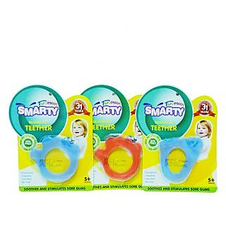 Smarty Twomax combo set of 6 pcs baby Teether (pink)