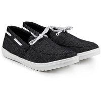 Golden Sparrow Men's Black Slip On Casual Shoes