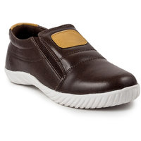 Golden Sparrow Men's Brown Slip On Casual Shoes