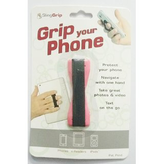 ACCWORLD Combo of 10 Finger Sling Straps to Grip Your Phone/Mobile /Phone Holder (Mix colours)