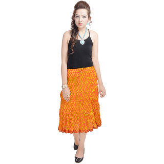 Rajasthani Ethnic Yellow Cotton Skirt
