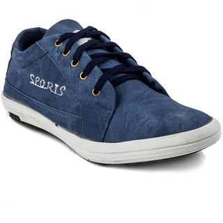 Golden Sparrow Men's Blue Lace-up Casual Shoes