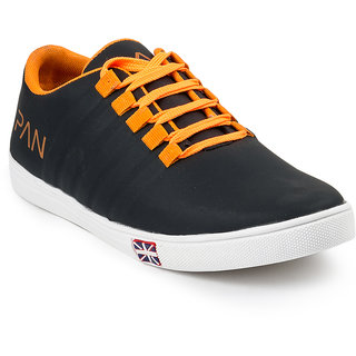 Golden Sparrow Mens Black Lace-up Casual Shoes