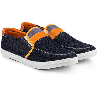 Golden Sparrow Mens Orange Slip on Casual Shoes
