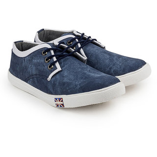 Golden Sparrow Men's Blue Lace-up Casual Shoes