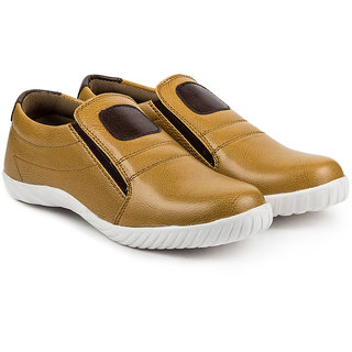 Golden Sparrow Mens Tan Slip on Casual Shoes
