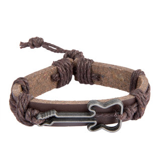 Diva Walk brown leather bracelet-00950