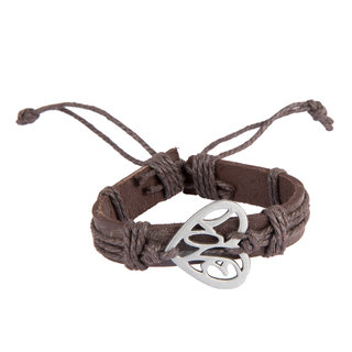 Diva Walk brown leather bracelet-00958