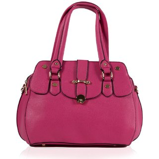 MABEL WOMEN PU HANDBAG- PINK