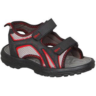 Disney Red And Black Floater Sandals For Kids