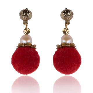 Diva Walk red alloy  earring-00923