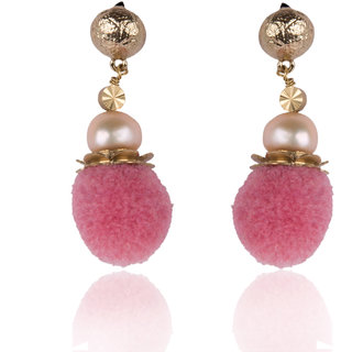 Diva Walk pink alloy  earring-00924