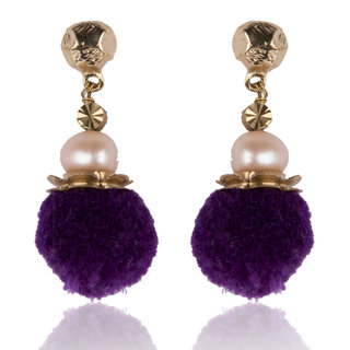Diva Walk purple alloy  earring-00926