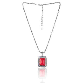 Diva Walk red alloy necklace-00929