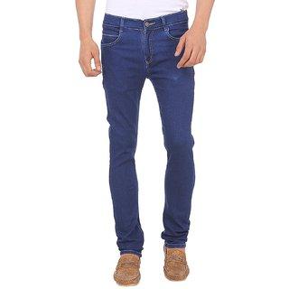 Slim Fit Blue Stretch Jeans