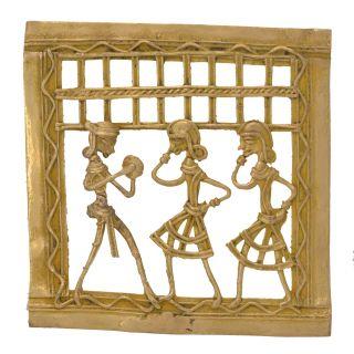 Elegant Bastar Art Square Music & Dancing Human Frame Handicraft by Bharat Haat BH05675