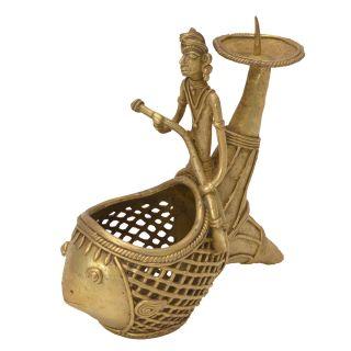 Brass Beautiful Bastar Art Handicraft Pen Holder Handicraft by  Bharat Haat BH05679