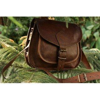 Leather Messenger Litchi Sidebag
