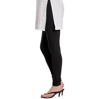 Full Length Cotton Lycra Leggings Black