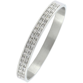 The Jewelbox Silver Others Rhodium Plated Bracelets & Armlets For Men