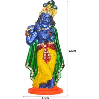 Shri Krishna Blue Idol Divinity Shrine Deity for Car, Home and Office Use