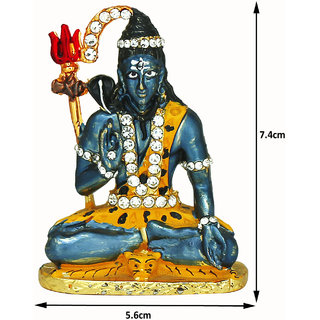 Shiva Shivji Blue Idol Divinity Shrine Deity for Car, Home and Office Use