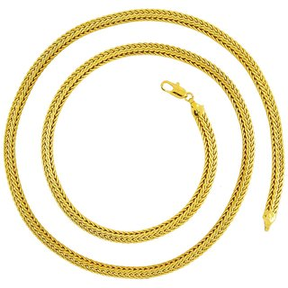 The Jewelbox Gold Others Gold Plated Pendants & Chains For Men