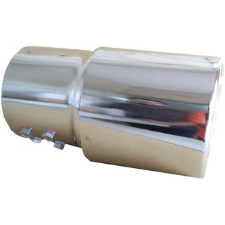 AutoPop Stainless Steel Exhaust Muffler Silencer Cover for Toyota Fortuner