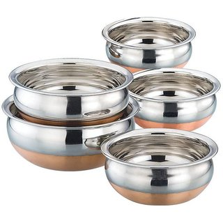 Sapphire Stainless Steel With Copper In Bottom (5 Pcs)