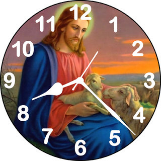 3D jesus with goat wall clock