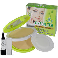 ADS 2in1 Green Tea Compact Powder Free Kajal