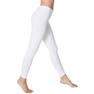 White Full Length Cotton Lycra Legging
