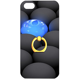 Casotec Balls Dark Neon Sight Surface Design 3D Printed Hard Back Case Cover with Metal Ring Kickstand for Apple iPhone 5 / 5S