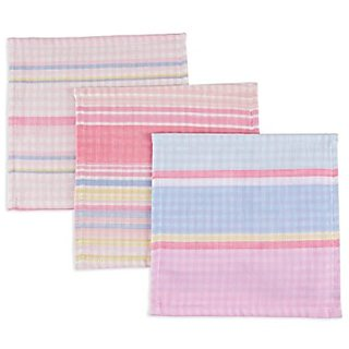 Henry And Brothers Wash Cloth, Candy Gingham, 3 Count