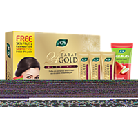 Joy 24 Carat Gold Glow Kit Pack 55 G (Set Of 4) With Free Face Wash 50ML