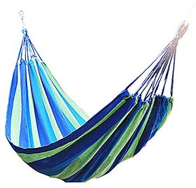FOLDING DOUBLE SIZE PURE COTTON ROPE HANGING HAMMOCK SWING CAMPING COTTON BED.