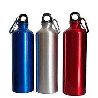 Steel Water Bottle (Pack of 2) Multi-color
