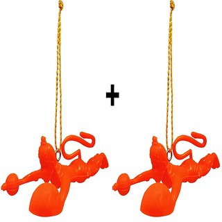 Set of 2 Flying Hanuman Ji Hanging for Car
