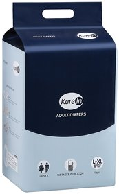 Kare In Adult Diapers Large 10's Pack to Fit, 96-147cm (38- 58)