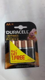 Duracell Alkaline Battery AA with Duralock Technology (8 Pieces)