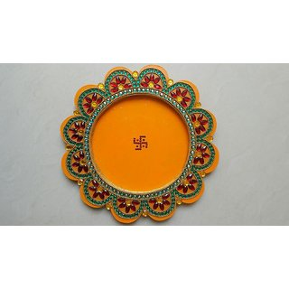 Newly Handicraft Pooja Thali Wood and other