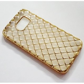ACCWORLD Designer Soft Back Case Cover for Samsung Galaxy S6  (Gold)