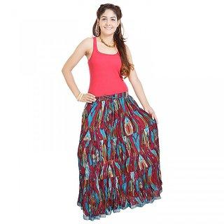 Shree Fashion Art Ethnic Multi Color Cotton Skirt