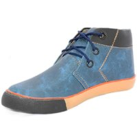 Blue Pop Men Blue Lace-up Casual Shoes