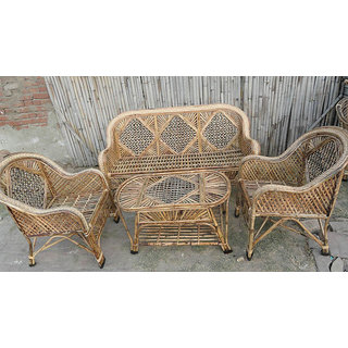 Cane Sofa Set With Table Online