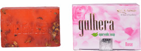 Gk Herbal Natural Organic Gulhera Rose Ayurvedic Soap -100 Gm
