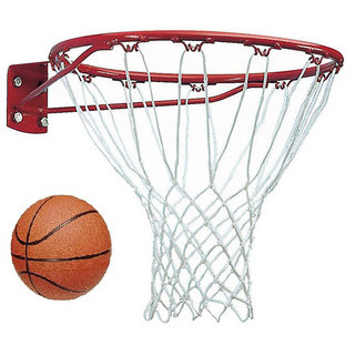 Facto Power 18 MM Basket Ball Ring with Net and Basket Ball (Size : 7)